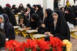 مراسم جزء خوانی قرآن و افطار ساده در امامزاده شهدای باقریه بیرجند
