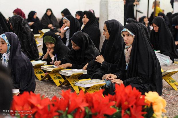مراسم قراءة القرآن الكريم واقامة مأدبة افطار في مقام شهداء باقرية
