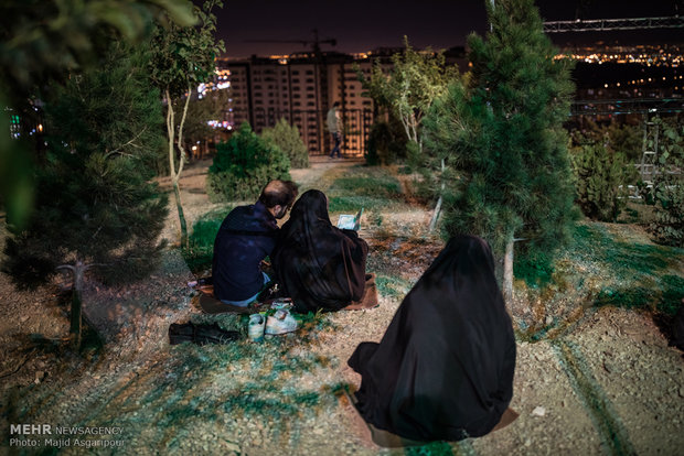 مراسم احیای شب نوزدهم ماه رمضان در مقبره الشهدای شهرک شهید باقری