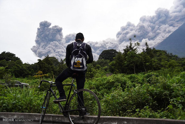 فوران آتشفشان در گواتمالا