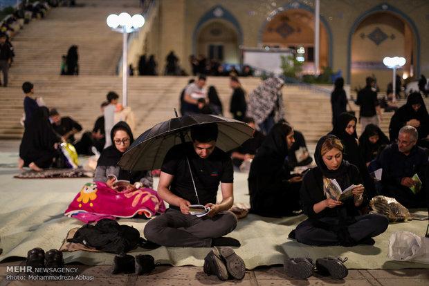 مراسم احیای شب بیست و یکم ماه رمضان در مصلی تهران