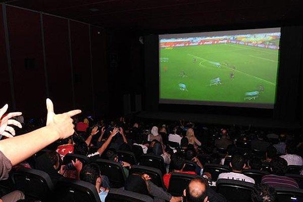 نمایش مسابقات جام جهانی فوتبال در ایوان شمس,
