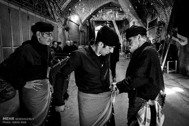 مراسم عزاداری شهادت حضرت علی (ع) در بازار تبریز