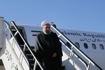 Pres. Rouhani returns home from Russia