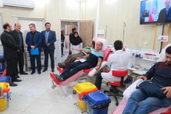استاندار قزوین از مرکز انتقال خون قزوین بازدید کرد