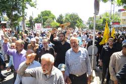 استان قزوین یکپارچه فریاد مرگ براسرائیل شد