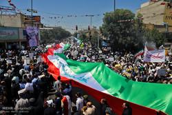 طنین فریاد مرگ بر اسرائیل در خیابانهای قم/حضوری باشکوهتر از قبل