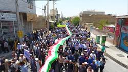 حضور مردم داراب در راهپیمایی روز قدس