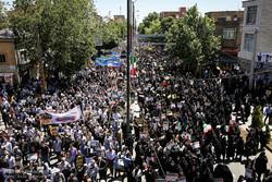 فریاد مرگ بر اسراییل در استان البرز طنینانداز شد