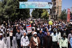 برگزاری مراسم راهپیمایی روز قدس در ۴ نقطه شهری نهاوند