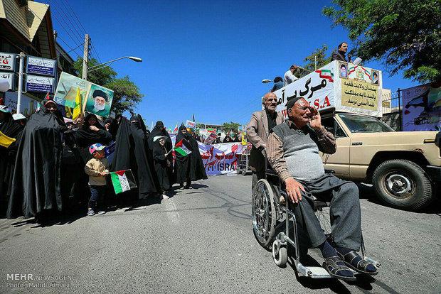 İran'ın dört bir köşesinde Kudüs Günü gösterileri