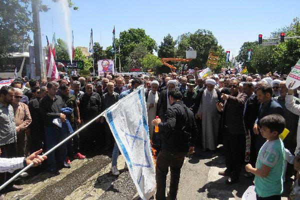 نمایش وحدت شیعه و سنی در کردستان/ندای مرگ بر اسرائیل طنین اندازشد