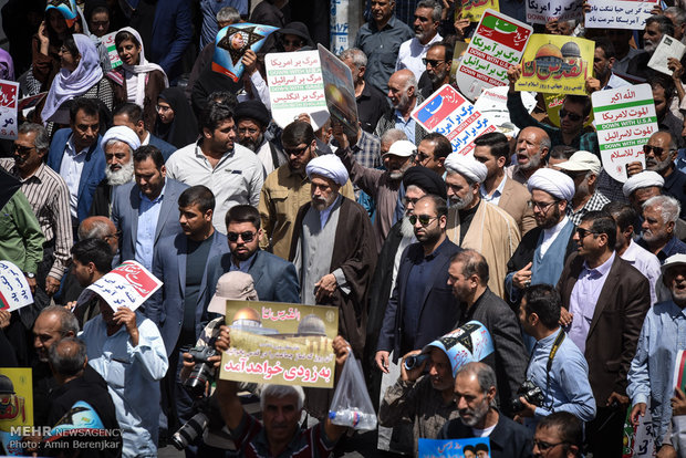 راهپیمایی روز جهانی قدس در شیراز