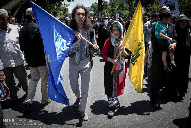 Tahran'da Kudüs Günü Yürüyüşleri