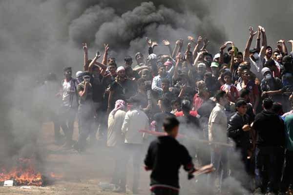 زخمی شدن بیش از ۲۰۰ فلسطینی توسط نظامیان صهیونیست