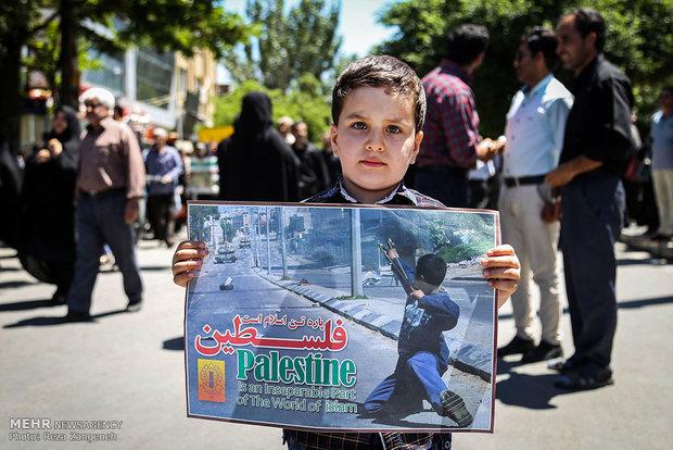 راهپیمایی روز قدس در همدان