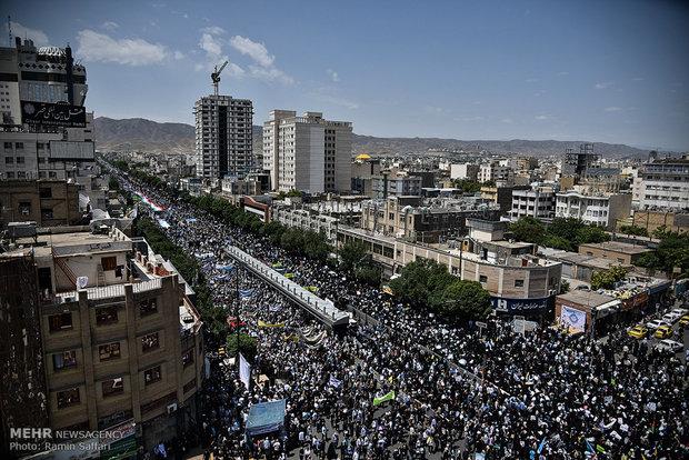 مسيرات يوم القدس العالمي في مدينة مشهد المقدسة