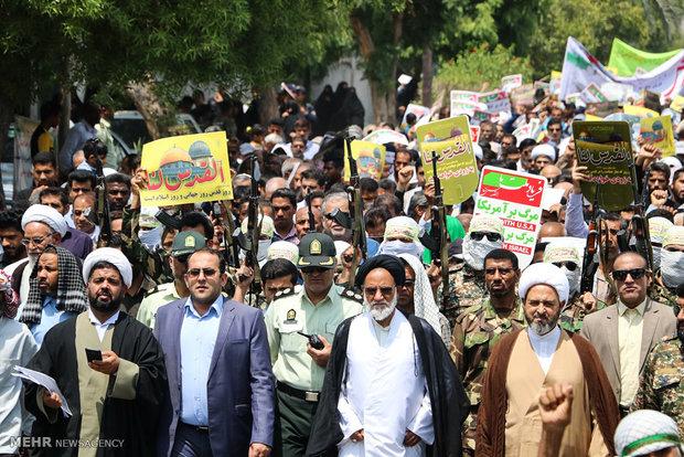 مسيرات يوم القدس العالمي في مدينة ميناب
