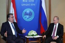 رؤسای جمهوری روسیه و تاجیکستان دیدار کردند