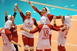 Iranian girls win 1st match at Asian volleyball c'ships