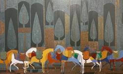 A painting by Mohammad-Hadi Fadavi