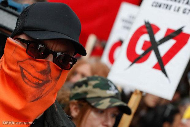 اعتراضات علیه نشست گروه 7