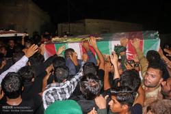 مراسم استقبال از پیکر شهید خلیل تختی نژاد دومین شهید مدافع حرم استان هرمزگان