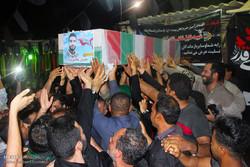 مراسم استقبال از پیکر دومین شهید مدافع حرم استان هرمزگان