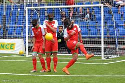 دیدار تیم های ملی فوتبال نابینایان ایران و فرانسه