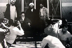 Imam Khomeini in a photo by Mahmud Kalari