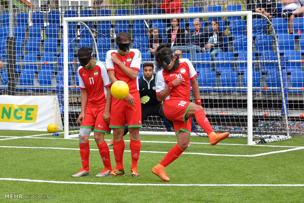 Iran shatters France 7-0 in Blind Football World Cup