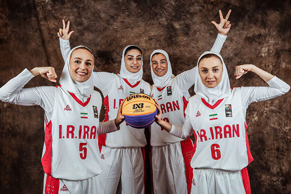 Iranian women know rivals at FIBA 3x3 World Cup