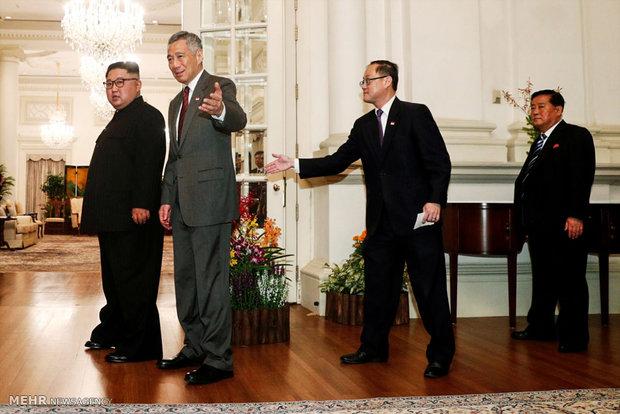 ورود رهبران آمریکا و کره شمالی به سنگاپور