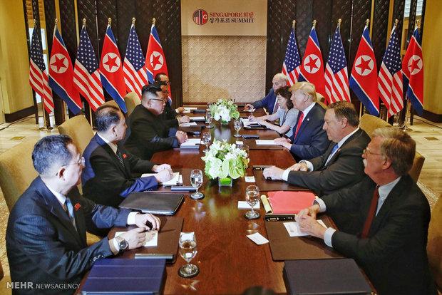 Kim Jong-un ve Trump'ın görüşmesinden fotoğraflar