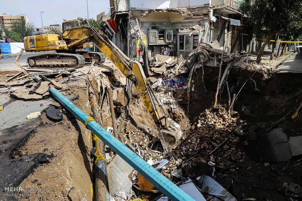 انفجار در محدوده مترو قم
