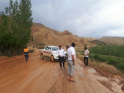 راه روستای سیل زده «جیلزجند» فیروزکوه بازگشایی شد