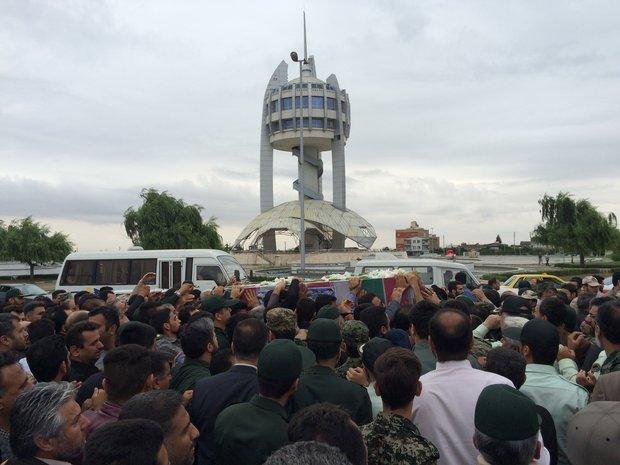 مراسم استقبال از هجدهمین شهید مدافع حرم گلستان برگزار شد