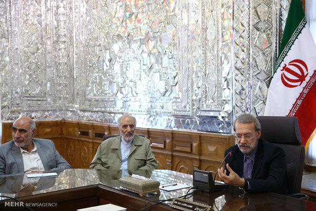 دیدار اعضای شورای مرکزی حزب موتلفه اسلامی با رئیس مجلس