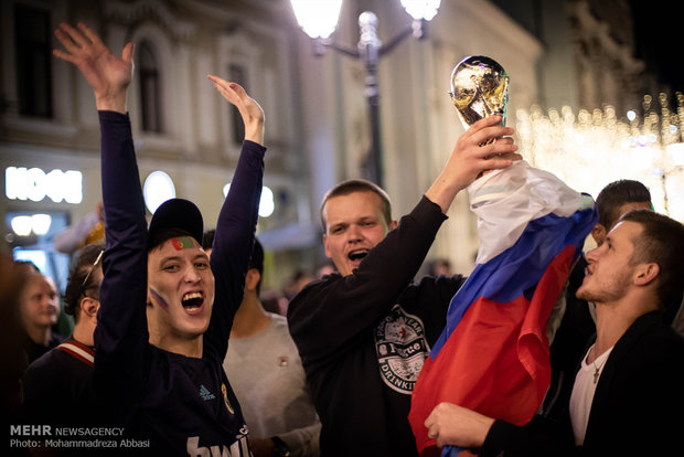 Moscow, depicting the highest level of enthusiasm