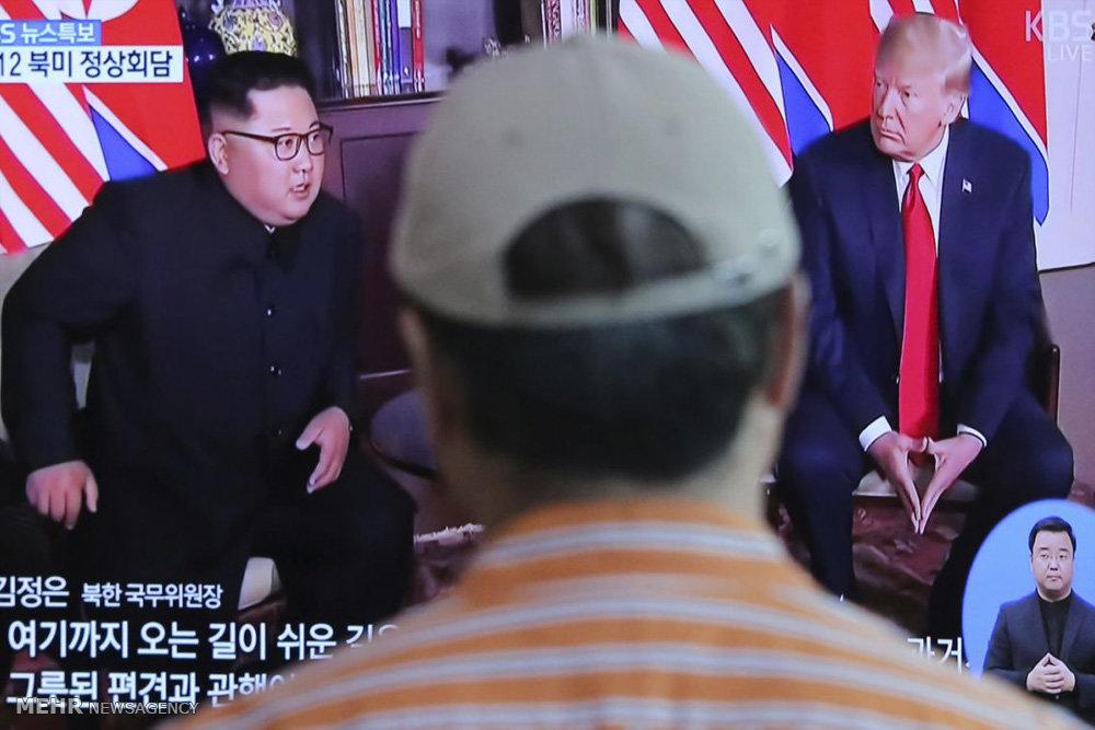 واکنش ها به ملاقات رهبران آمریکا و کره شمالی