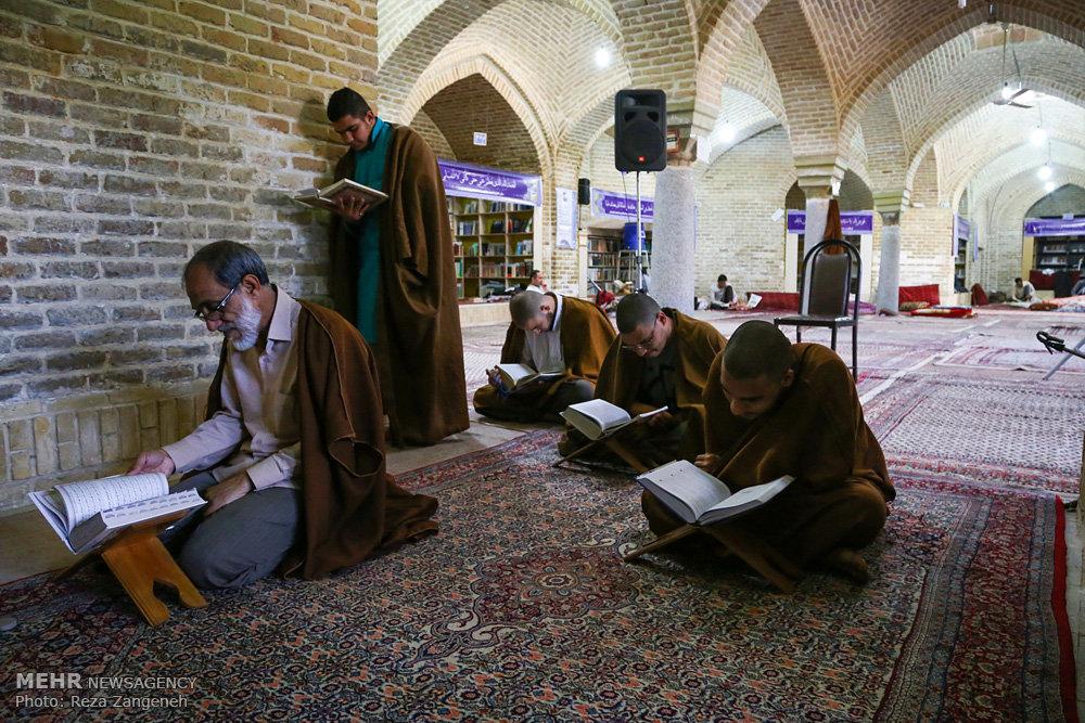 مراسم معنوی اعتکاف در مسجد جامع همدان