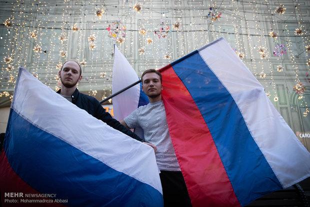Fotoğraf: Moskova'da futbol coşkusu
