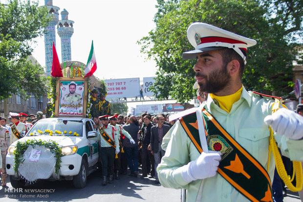 تشییع شهید علی اکبر معصومی نژاد در اراک