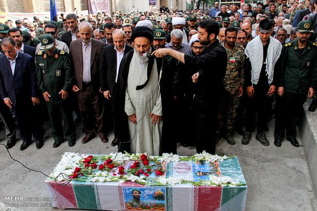 مراسم تشیع هجدهمین شهید مدافع حرم استان گلستان