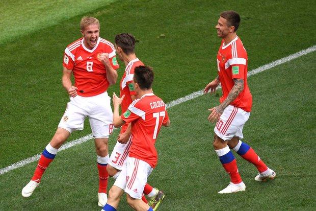 بازیکن روسیه زننده اولین گل جام جهانی ۲۰۱۸
