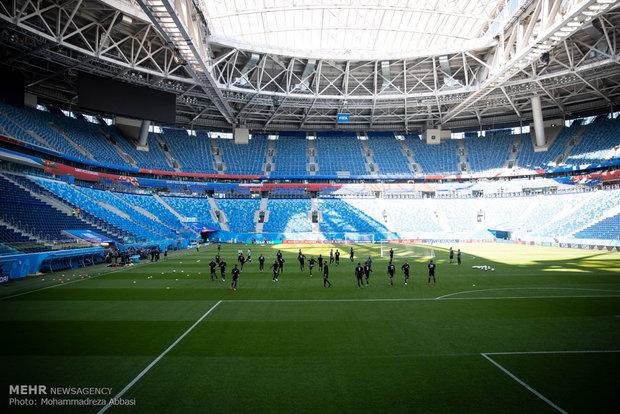 آخرین تمرین تیم ملی فوتبال ایران قبل از دیدار با تیم مراکش