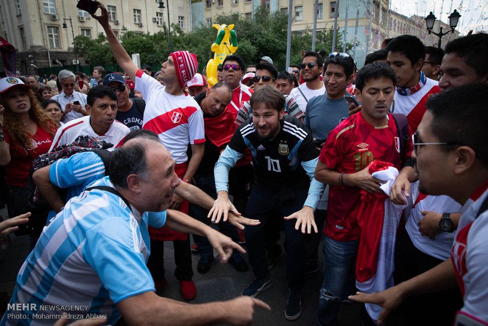 حضور طرفداران تیم های حاضر در جام جهانی در مسکو