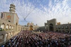 نماز باشکوه عید سعید فطر در حرم مطهر رضوی اقامه شد