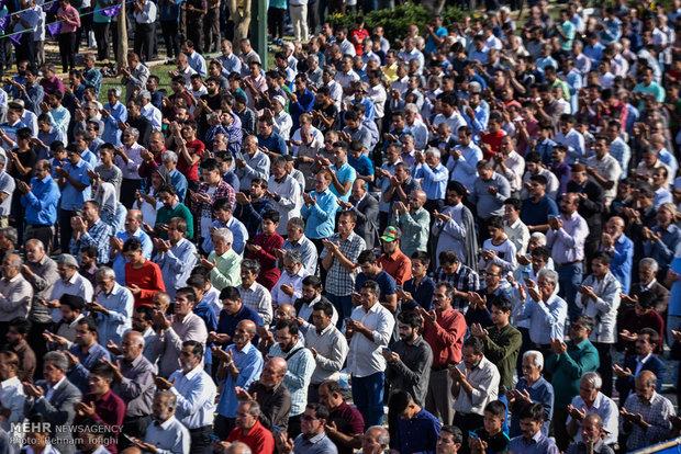 Eid al-Fitr prayers performed in Shah-Abdol-Azim Shrine in Rey