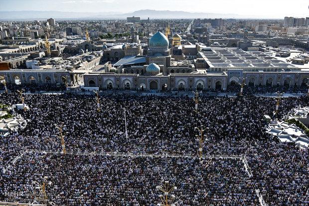 مراسم نماز عید فطر از ساعت۶:۱۵ در صحن جامع حرم رضوی آغاز می شود